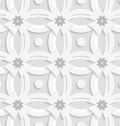 White ornament net gray flowers and white crosses vector image