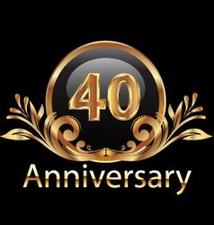 40 years anniversary birthday in gold vector image
