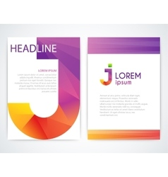 a colorful brochure vector image
