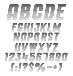 alphabet letters numbers and symbols from pixels vector image