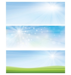 banner sky grass vector image
