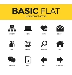 Basic set of Network icons vector