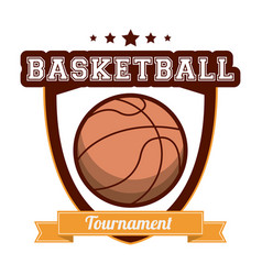 Basketball tournament sport banner vector