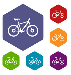 bike icons set vector image