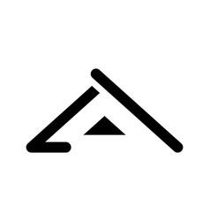 Black roof logo template vector