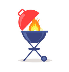 brazier grill loaded with fresh charcoal briquette vector image