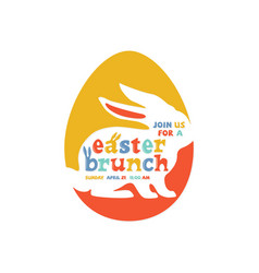 colorful easter brunch lettering vector image