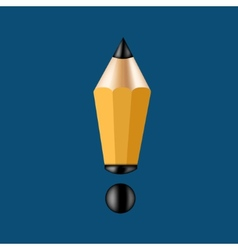 Concept pencil and exclamation mark vector