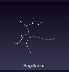 constellation as it can be seen naked eye vector image