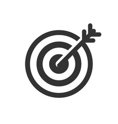 Dart goal icon images vector
