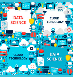 data science paper templates vector image