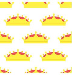 Diadem golden king crown seamless pattern vector