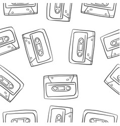 Doodle musical instrument theme collection vector