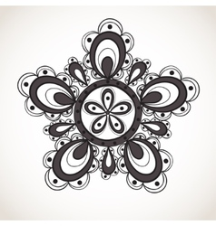 Fantasy flower pattern vector