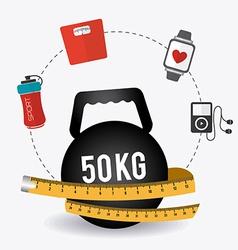 Fitness design vector image