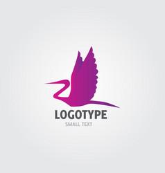 flying stork logo vector image