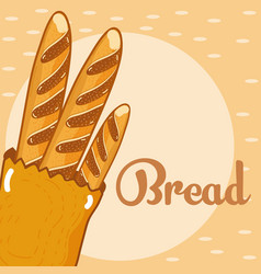 fresh and delicious bread vector image