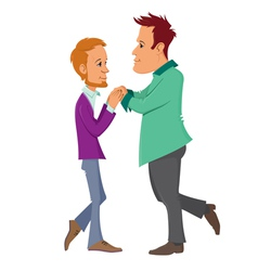 gay couple vector image