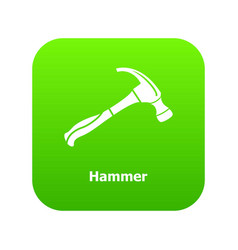 hammer icon green vector image