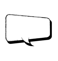 hand draw comic speech bubble vector image