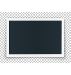 horizontal photo frame concept isolated on vector image