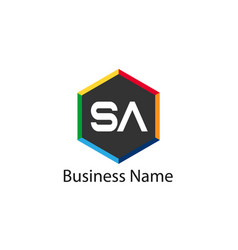 Initial letter sa logo template design vector