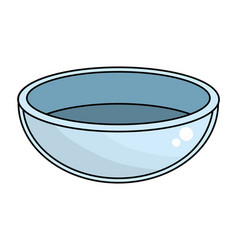 isolated bowl design vector image
