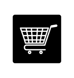 Isolated cart shopping vector