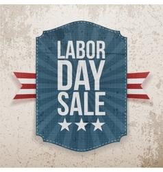 Labor day sale paper tag vector