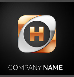 Letter h logo symbol in the colorful square on vector
