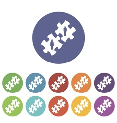Love puzzle flat icon vector image