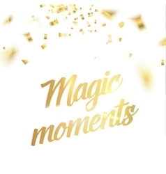 Magic moments card vector