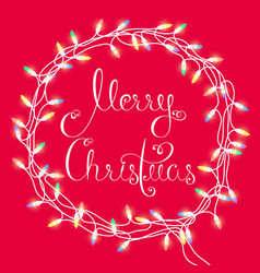 Merry christmas garland vector