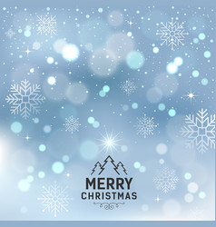 Merry christmas with snowflake and lighting vector