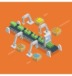 Money Making Process Isometric Concept vector image