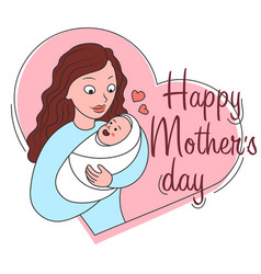 Mothers day greeting cart cartoon vector