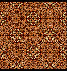Oriental geometrical bohemian gravel mosaic petal vector