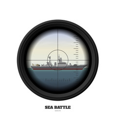 Periscope of submarine military weapon view vector