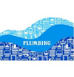 Plumbing background design vector