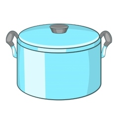 Pot with lid icon cartoon style vector image