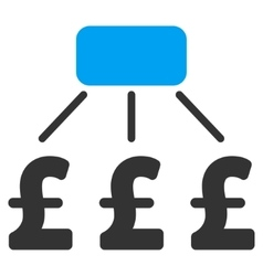 Pound Financial Scheme Flat Icon Symbol vector