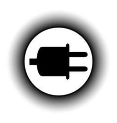 Power cord sign button vector