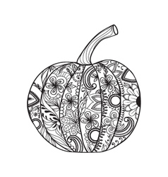 Pumpkin for Thanksgiving day Halloween vector image