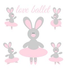rabbit ballerina vector image