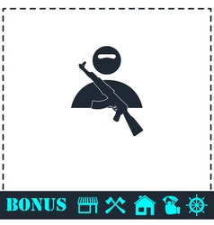 Raider icon flat vector
