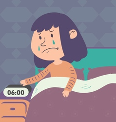 Sad Girl Getting Up vector image