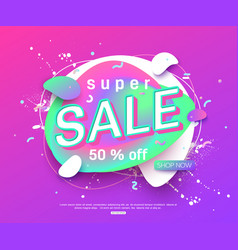 sale banner layout design for online vector image