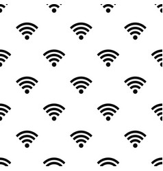 seamless pattern with wi-fi symbol vector image