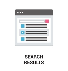 search results icon concept vector image