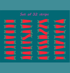 Serpentine ribbon icon set carnival party vector